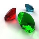 diamant van drie kleuren — Stockfoto
