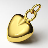 Jewelry gold heart — Stock Photo