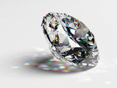Diamond jewel with caustics — Stock Photo