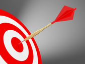 Darts on the red target — Stock Photo