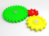 Gears of the some mechanism — Stock Photo