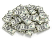 Big pile of the money — Stock Photo