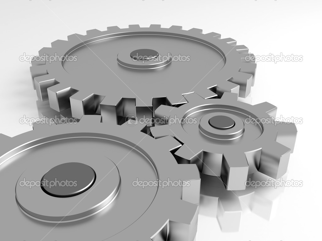 Gear wheels. A part of the mechanism. — Stock Photo #1966733