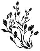 Tulip's floral vector pattern — Vector de stock