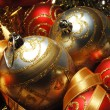 Christmas decorations still life — Stockfoto