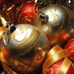Christmas decorations still life — Stock Photo