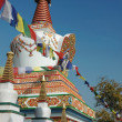 Stock Photo: Little stupa near Swayambhunath stupa