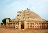 Ancient Great Stupa in Sanchi,India — Stock Photo
