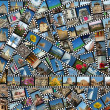 Foto Stock: Background with travel filmstrips