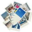 Stock Photo: Stack of vacation travel photos