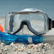 Summer sport - snorkling — Stock Photo