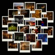 Stack of photos with night cityscapes - ストック写真