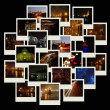 Stack of photos with night cityscapes - Stock Photo