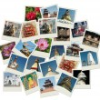 Stock Photo: Stack of photo shots with Nepal landmark