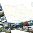 Background with ukrainian travel shots — Stock Photo