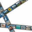 Filmstrips with summer vacation photos — Stock Photo