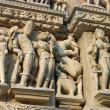 Detail of Vishnavath temple, Khajuraho, — Stock Photo