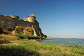 Old moldavian fortress on the river bank — Stock Photo