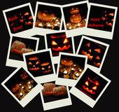 Stack of Halloween photo shots — Stock Photo