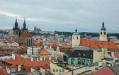 View of old Prague in overcast day — Stock Photo