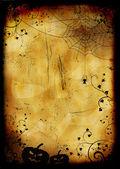 Grunge burned halloween background — Stock Photo