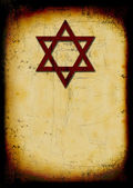 Grunge jewish burned background — Stock Photo