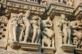 Detail of Vishnavath temple, Khajuraho, — Stock Photo