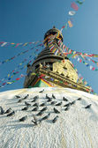 Top of the Swayambhunath stupa in Nepal — Stock Photo