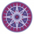 Stock vektor: Vintage vector compass - rose wind