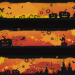 Three grunge halloween vector banners - Stock Vector