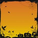 Halloween grunge vektorové pozadí — Stock vektor