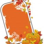 Halloween pumpkin frame — Stock Vector