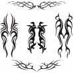 Set of vector tribal tattoos — Stock Vector