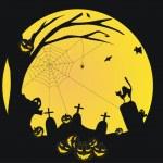 Halloween vector background with pumpkin — Stock Vector #1094656