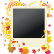Autumnal vector grunge polaroid — Stock Vector