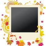 Autumnal vector grunge polaroid — Stock Vector