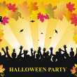 Halloween party vector background — Stock Vector #1094776