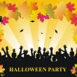 Stock Vector: Halloween party vector background
