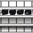 Royalty-Free Stock ベクターイメージ: Set of black-and-white filmstrips