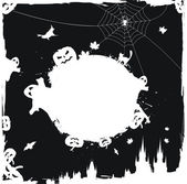 Grunge halloween vector frame — Stock Vector