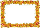 Thanksgiving day autumnal vector frame — Stock Vector