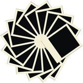 Circle stack of blank polaroids — Stock Vector
