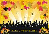 Halloween party vector background — Stock Vector