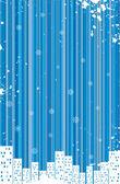 Grunge retro winter background — Stock Vector