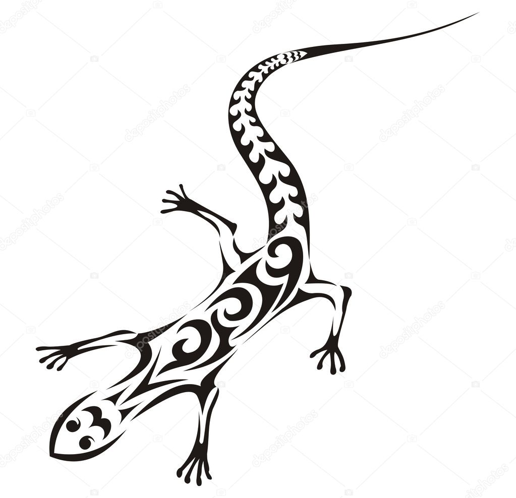 tribal tattoo bird pinterest #1094654 — kaetana lizard Vector Stock Tribal tattoo © vector
