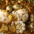 Christmas decorations background — Stock Photo