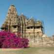 Hindu temple at Khajuraho, famous hindu — Stock Photo