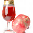 Royalty-Free Stock Photo: Glass of fresh juice and two pomegranate