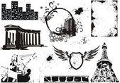 Set of vector grunge elements — Stock Vector