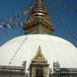 Swayambhunath stupa in Kathmandu - Stock Photo